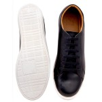 Black Casual Leather Sneaker Shoes