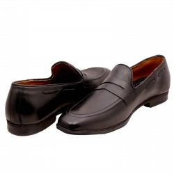 Black Classic Loafer Shoes