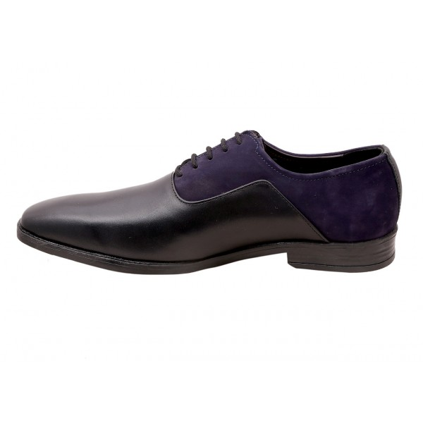Black & blue Classic Two Tone Derby Shoes