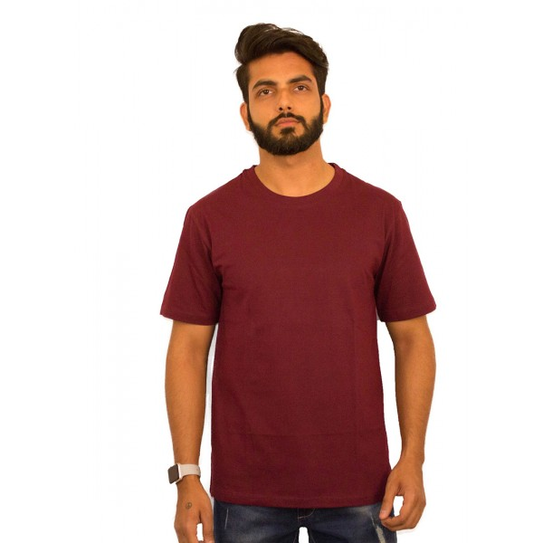 Maroon Round Neck T-shirt