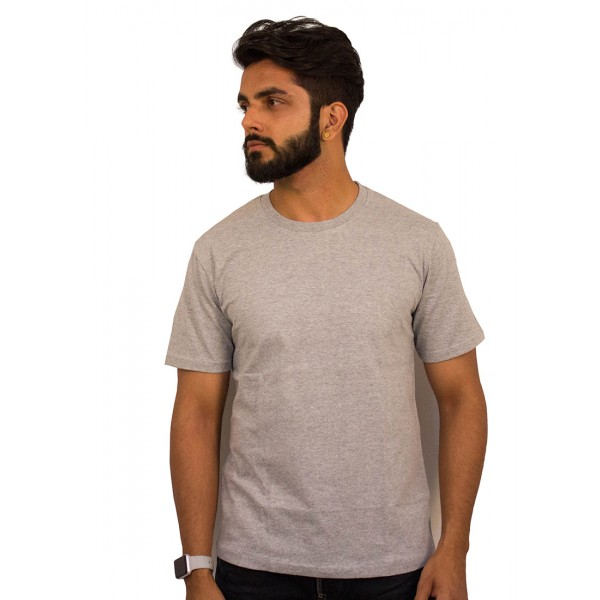 Gray Round Neck T-shirt