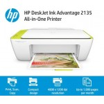 HP DeskJet Ink Advantage 2135 All-in-One Printer  (White, Ink Cartridge)