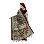 Black Gold Mysore Silk Jhalor